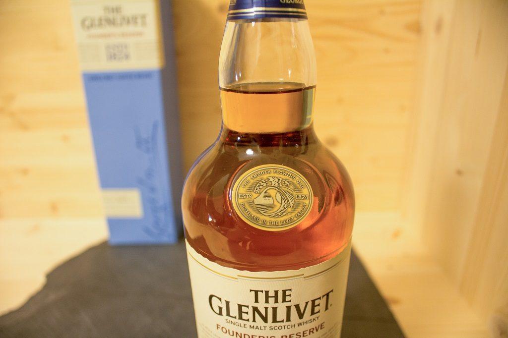 Das Siegel des Glenlivet Founder's Reserve ist schön, könnte aber besser verarbeitet sein.