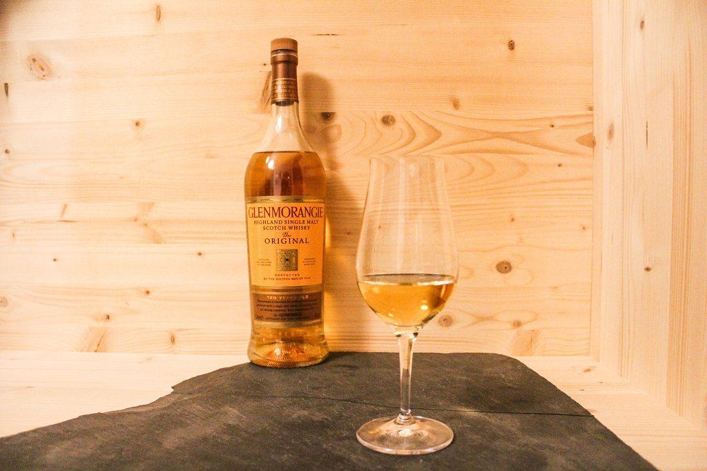 Bei dem Glenmorangie Original wird der Fokus auf das Produkt selbst gelegt.