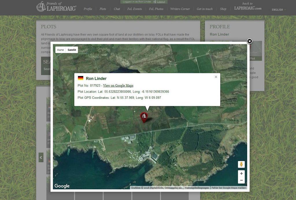 Ein Stück Land von Laphroaig an Ihre Kunden.