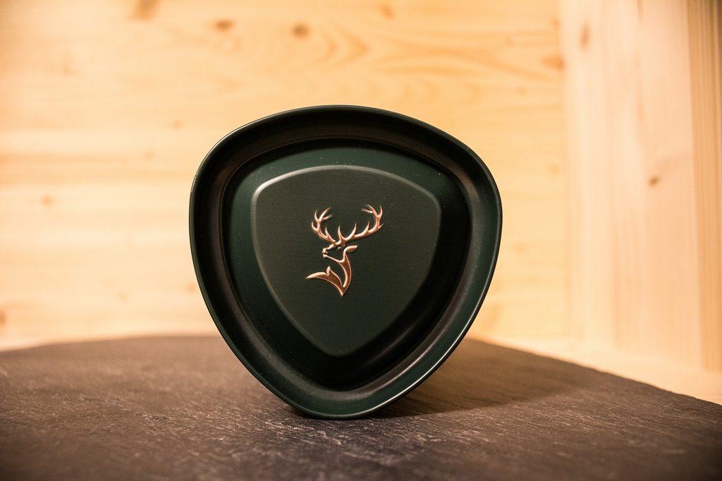 Die Verpackung des Glenfiddich 12 geziert mit dem Wappen.