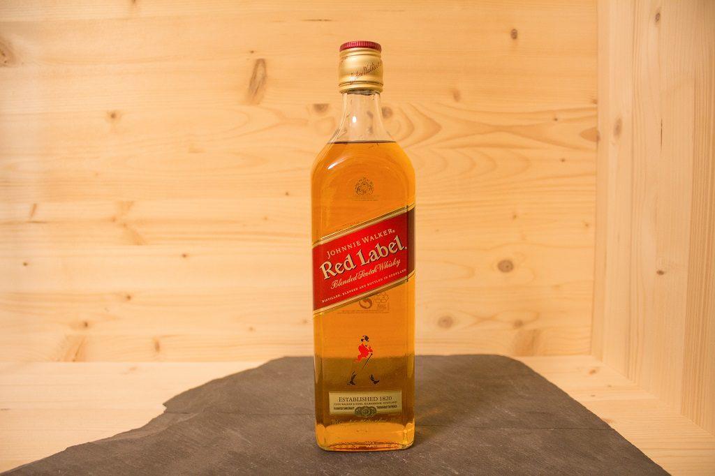 Das einfach gehaltene Design des Johnnie Walker Red Label.