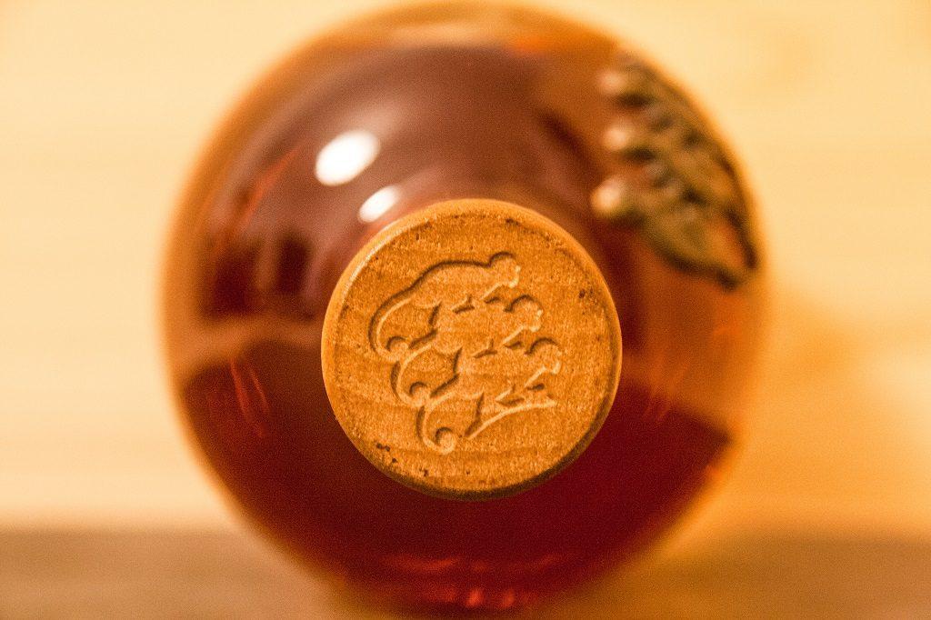 Das Logo des Monkey Shoulder ist auch auf der Flasche vertreten.