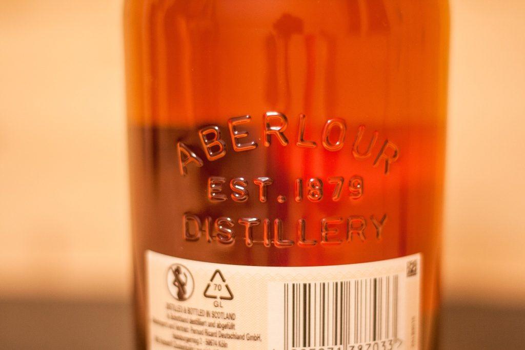 Auch das Gründungsjahr durfte auf der Flasche des Aberlour 12 nicht fehlen.