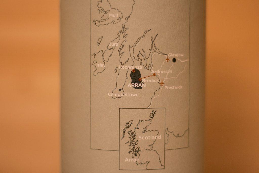 Die Landkarte auf der man erkennt wo der Arran 10 seine Wurzeln hat.