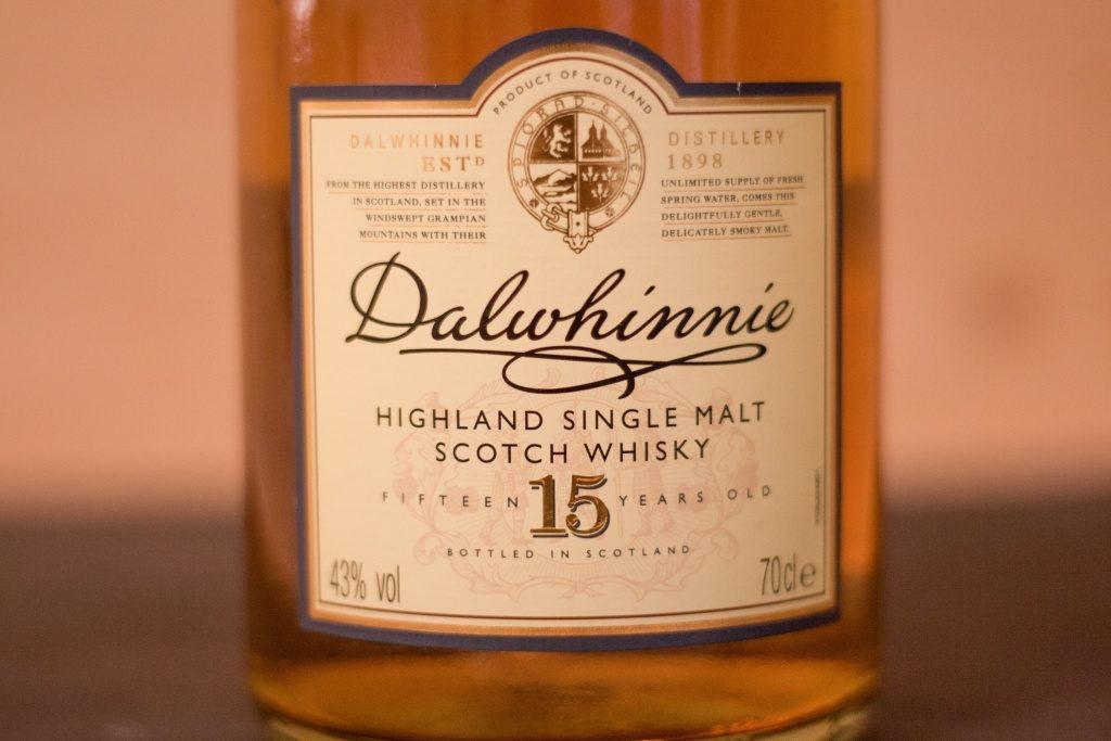 Das Label des Dalwhinnie 12.